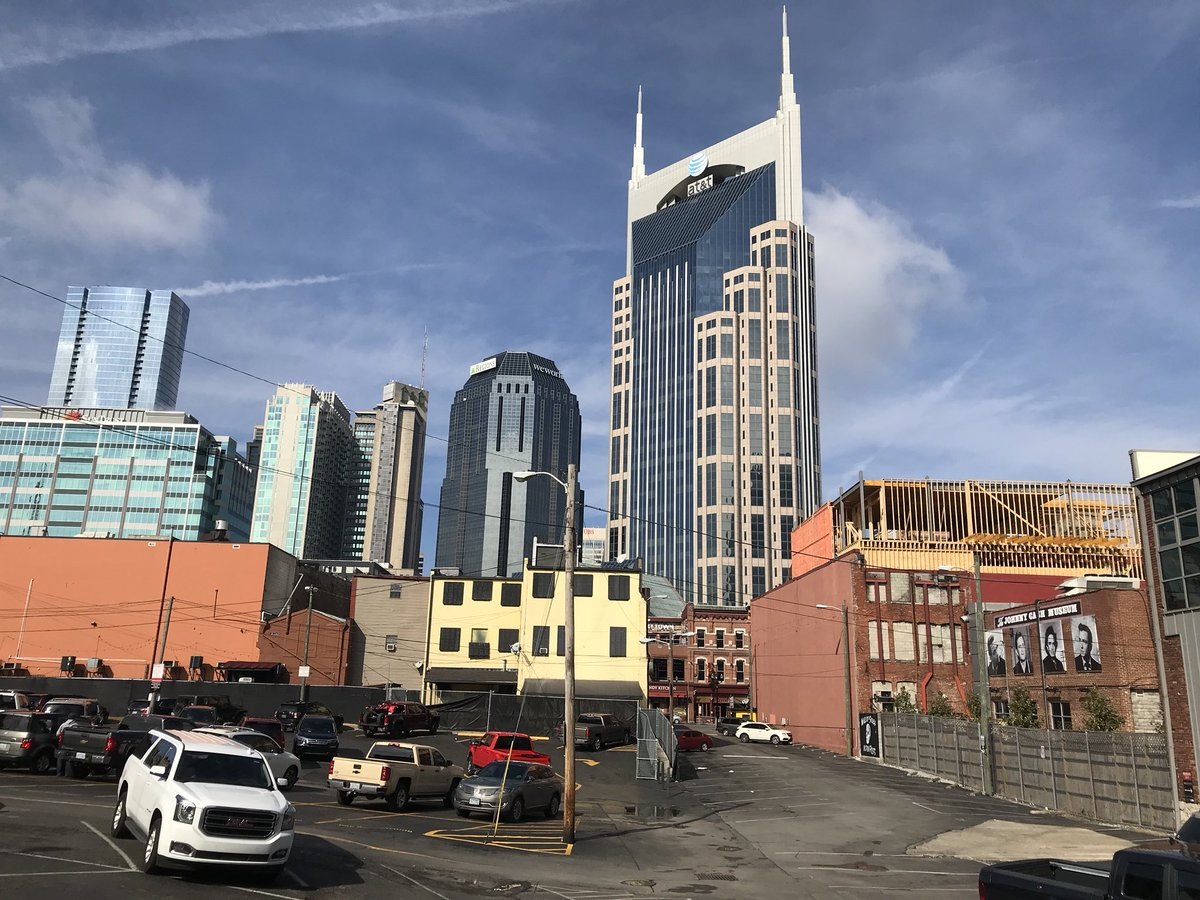 Photo of the downtown Nashville skyline in Nashville, Tennessee.