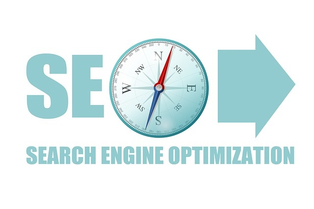 Search Engine Optimization Compass Stock Photo