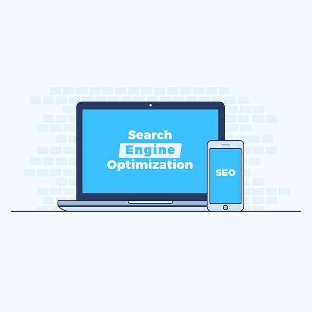 Search Engine Optimization Blue Background